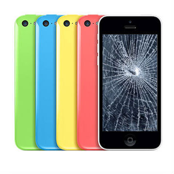 החלפת מסך LCD+מגע Apple iphone 5c אפל